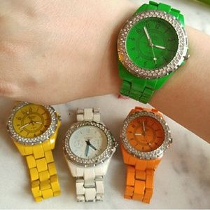 Set of 4 colorful watches by Figaro Couture